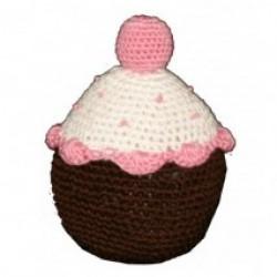 Jouet cupcake en crochet organic rose