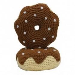 Jouet donut en crochet organic marron
