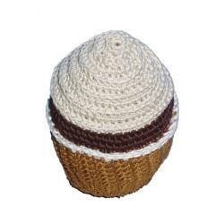 Jouet cupcake chantilly en crochet organic