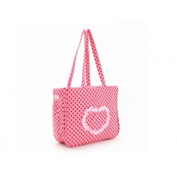 SAC DE TRANSPORT HEART ROSE