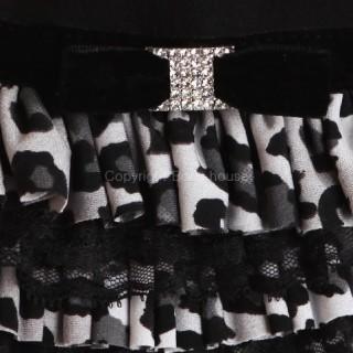 Robe Love Leopard noire