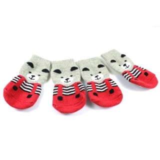 Chaussettes Lovely Bear rouges