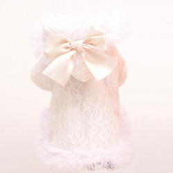 Manteau Lace and Bow blanc