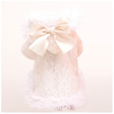 HOODIE LACE & BOW BLANC