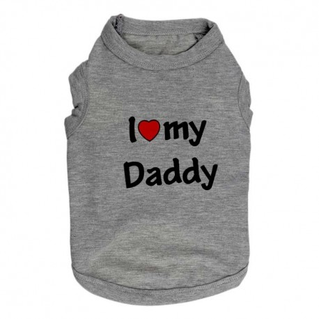 T-SHIRT I LOVE MY DADDY GRIS