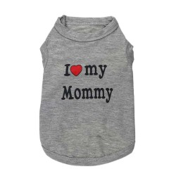 "T-shirt ""I Love My Mommy"" gris"