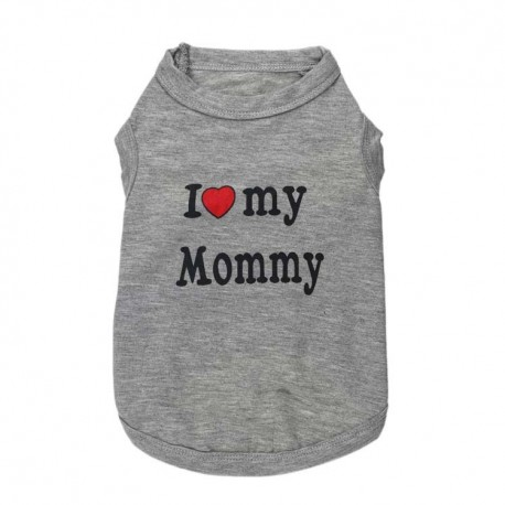 T-SHIRT I LOVE MY MOMMY GRIS