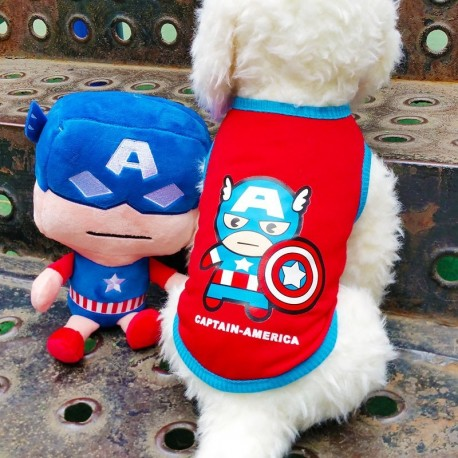 T-SHIRT SUPER HEROS CAPTAIN AMERICA