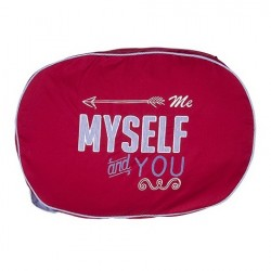Coussin Myself rouge
