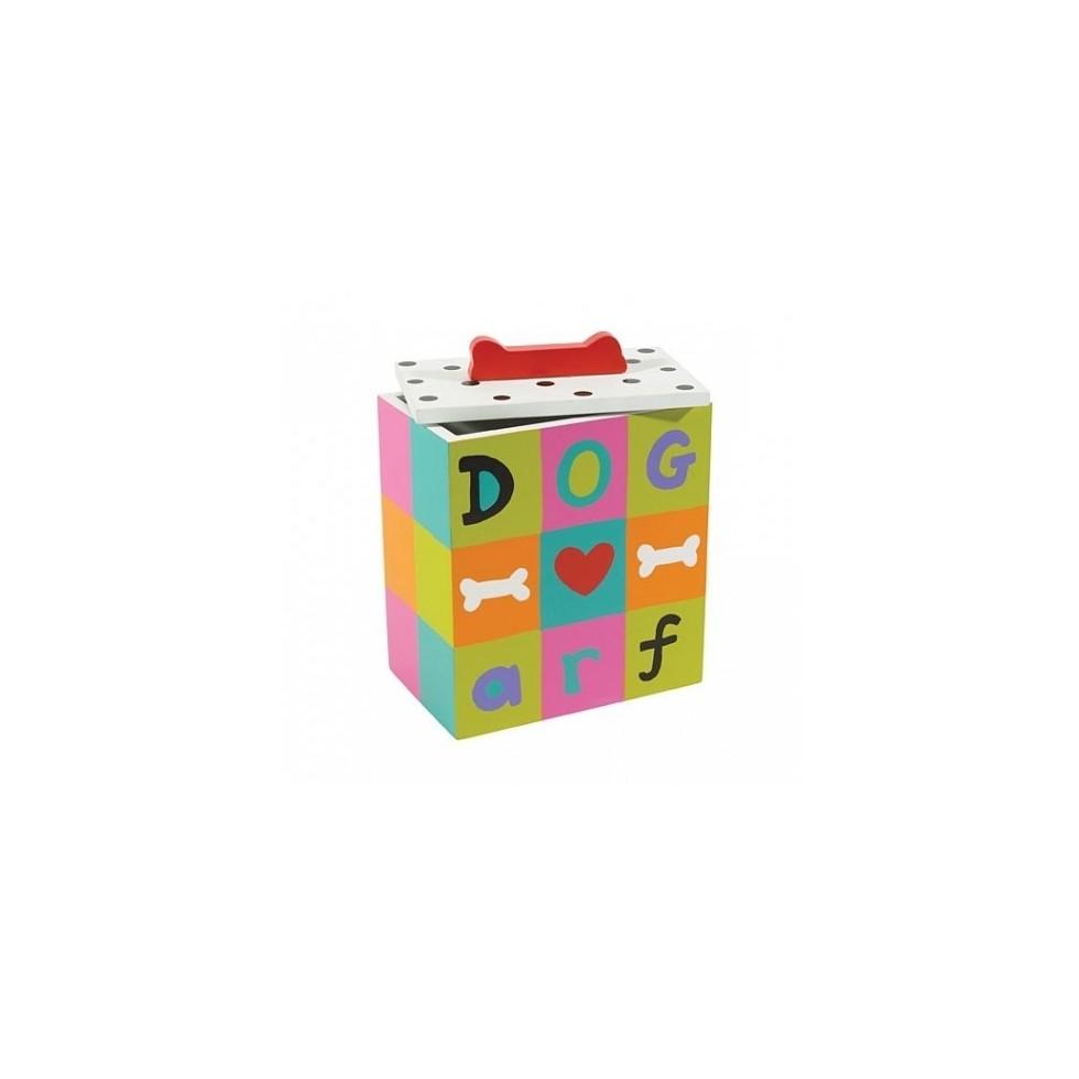 """Boîte à friandises et croquette """"Arf Dog"""" en bois"""