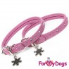 Collier Strass rose