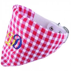 COLLIER BANDANA DAMIER ROUGE DOGGY DOLLY