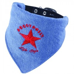 COLLIER BANDANA JEAN BLEU DOGGY DOLLY