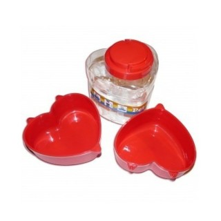 Kit de voyage Lovely Heart rouge