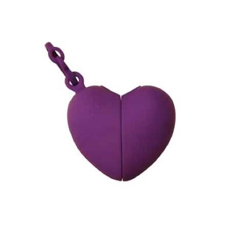 Ramasse crottes Coeur violet
