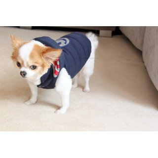Manteau Happy Hooded navy