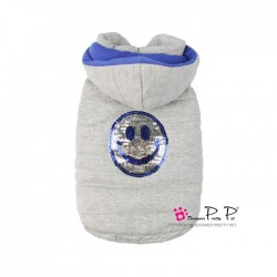 MANTEAU HAPPY HOODED GRIS PRETTY PET
