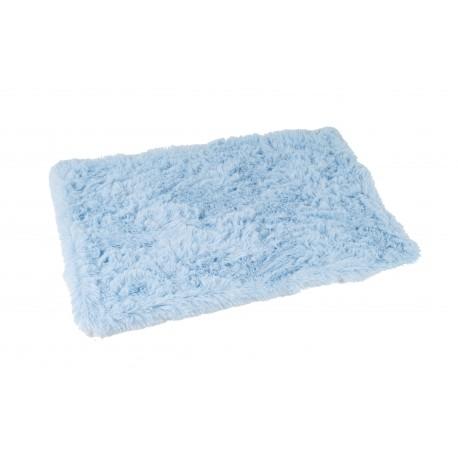 Plaid Fluffy bleu