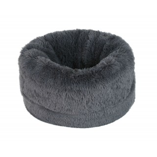 Panier Fluffy Ball gris anthracite