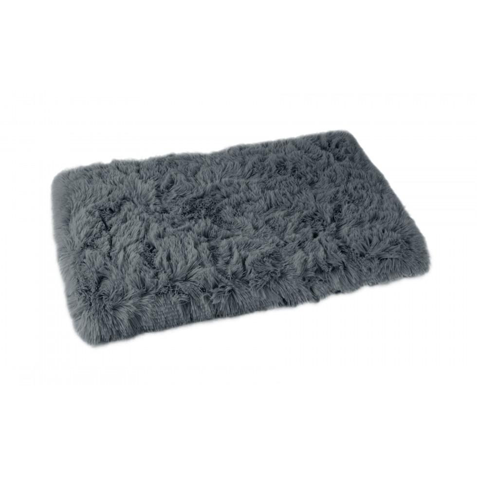 Plaid Fluffy gris anthracite