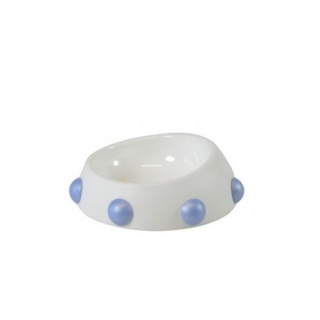 GAMELLE BOSS NANO BLANCHE-BLEUE UNITED PETS