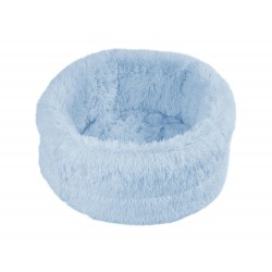 Panier Fluffy Ovale bleu