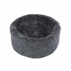PANIER FLUFFY OVALE GRIS ANTHRACITE O'LALA PETS