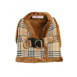 Harnais Luxury Fur tartan marron