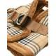 Harnais Luxury Fur tartan marron