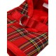 HARNAIS LUXURY FUR TARTAN ROUGE URBAN PUP