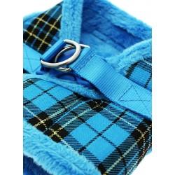 Harnais Luxury Fur tartan bleu