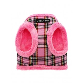 Harnais Luxury Fur tartan rose