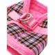 Harnais Luxury Fur tartan rose