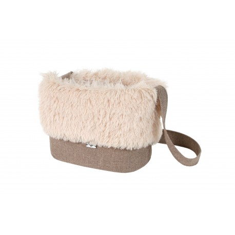 Sac de transport Fluffy beige