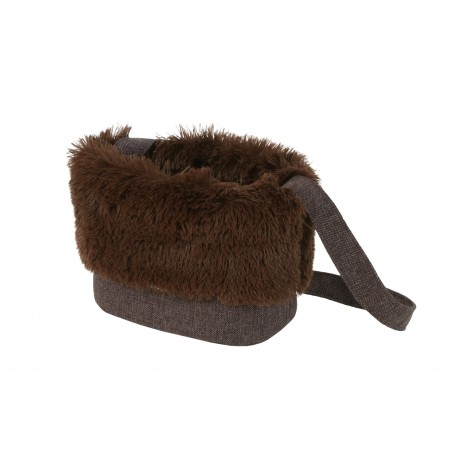 Sac de transport Fluffy marron