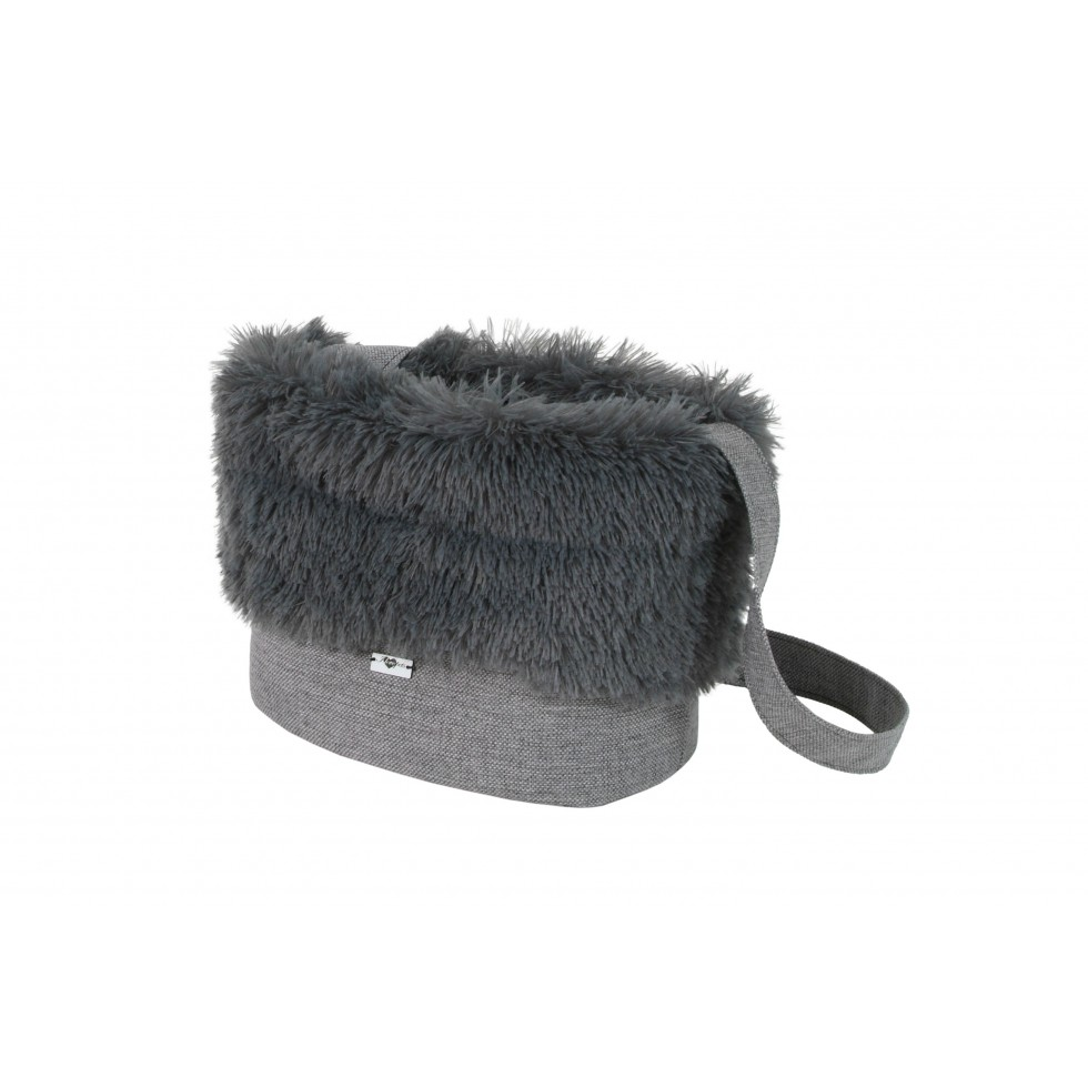 Sac de transport Fluffy gris anthracite