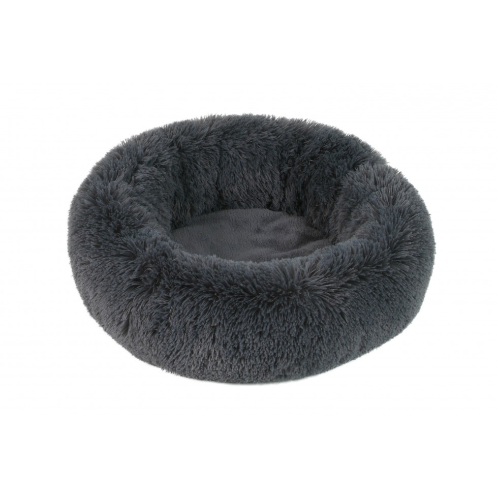 Panier Fluffy Donut gris anthracite