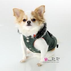 Manteau camouflage vert
