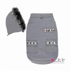 Manteau Cool Pocket gris