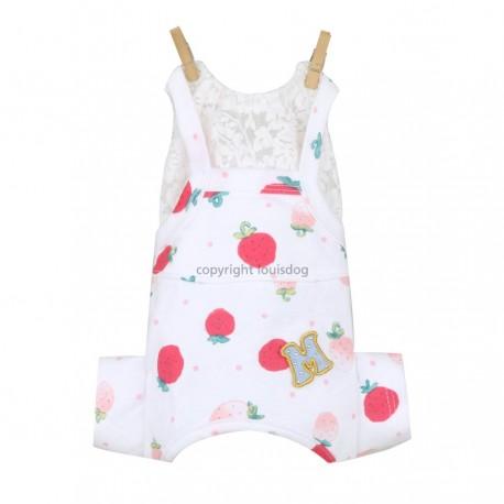 Strawberry Overalls blanc